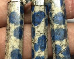 Wow Very nice Beautiful 3 Pcs Hand Made K2 NITE Pendants 925 Silver