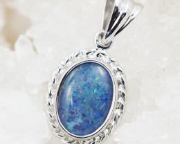 Australian Opal Tripelet Silver Pendant OPJ 2229