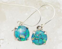 Australian Opal  Mosaic Triplet Silver Pendant OPJ 2232