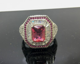 41.83 Crt 925 Silver Ring With Cubic Zircon