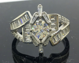 23.29 Crt 925 Silver Ring With Cubic Zircon