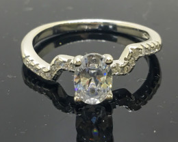 12.05 Crt 925 Silver Ring With Cubic Zircon