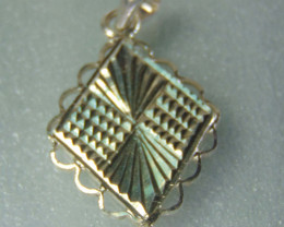 faceted pendent ~ ~ fantasy silver designs 13.00cts