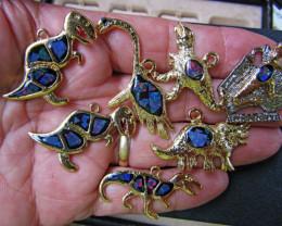 Seven Australian Dinosaur opal collection Bu 981
