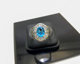 41.31 Crt 925 Silver Ring With Cubic Zircon