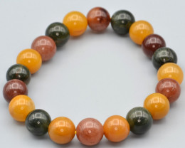Natural Multi Color Rutilated Quartz Beads Bracelet