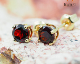 10 KY Yellow Gold Garnet Earrings - 62 - E E4046 800 GARNET