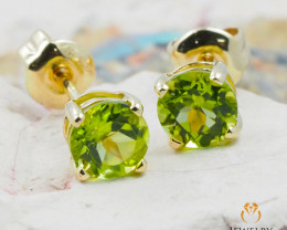 10 KY Yellow Gold Peridot Earrings - 63 - E E4046 800 PERIDOT
