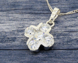 Dainty Sparkling Cross Pendant with channel-set CZ