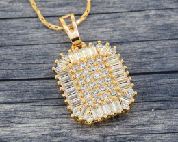 Sophisticated CZ studded sparkling goldfilled pendant