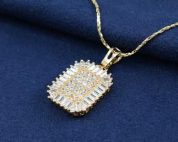 Sophisticated CZ studded sparkling goldfilled pendant