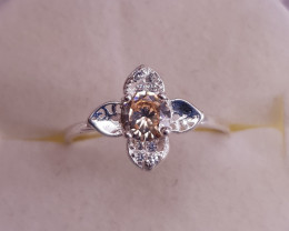 Natural Beautiful Zircons Ring.