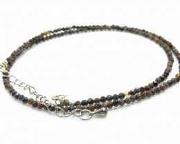 16.40 Crt Natural Tiger Eye Neckalce with Silver Lock
