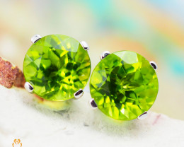 10 KW White Gold Peridot Earrings - 58 - E E4046 1450