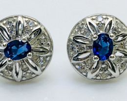 13.04 Crt Cubic Zircon Ear Tops 925 Silver with Rhodium plated