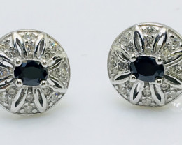 13.44 Crt Cubic Zircon Ear Tops 925 Silver with Rhodium plated