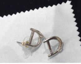 Silver Earrings with zircon