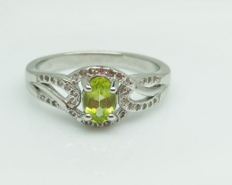 PERIDOT NATURAL STONE WITH  925 SILVER RING C#2