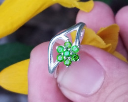 Tsavorite Silver Perfect Ring