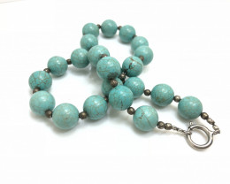 428 Crt Howlite Beads Necklace