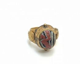 39 Crt Gold Plated Gabriel Ring Material Brass