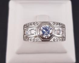 Zircons 925 silver Ring.