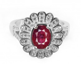2.20 Ct Ruby Unheated Mozambiq Quality Silver 925 Ring. (DZR 01)