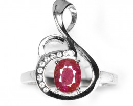1.26 Ct Ruby Unheated Mozambiq Quality Silver 925 Ring. (DZR 03)