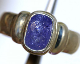 43.40 CTS TANZANITE SILVER RING -FACETED SG-2923