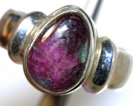 42.30 CTS RUBY ZOISITE SILVER RING SG-2928