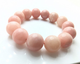 15mm Natural Madagascar Rose Quartz Bracelet