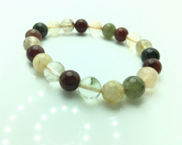 10mm Natural 5 Color Rutile Quartz Bracelet