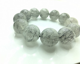 20mm Natural Rutilated Quartz Bracelet