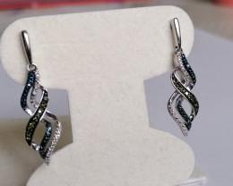 Natural Diamond Earrings 0.71 TCW
