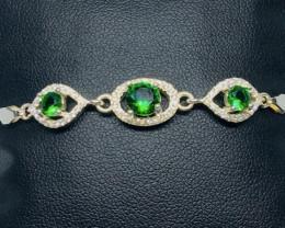 27.92 Crt Cubic Zircon 925 Silver Bracelet