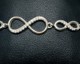 30.15 Crt 925 Silver Rhodium Plated Bracelet