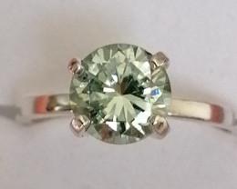 Lab-Grown Blue Diamond Ring 1.61cts.