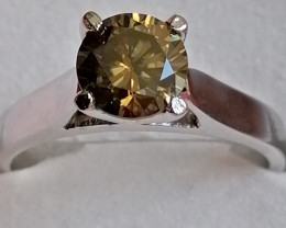 Natural Champagne Diamond Ring 1.05cts.