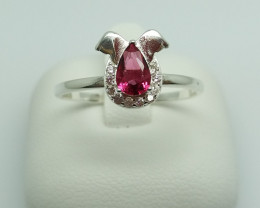 NATURAL 925 RINGS WITH TOP CLASS CUBIC ZIRCONIA F#52