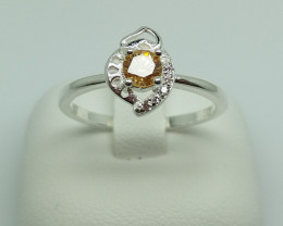 NATURAL 925 RINGS WITH TOP CLASS CUBIC ZIRCONIA F#53
