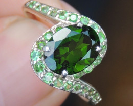 Chrome Diopside with Garnet