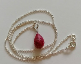 Natural Ruby Briolette Pendant 8cts.
