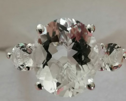 Natural Petalite Trilogy Ring 2.30 TCW