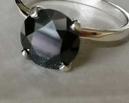 Natural Black Diamond Solitaire 2.48cts.