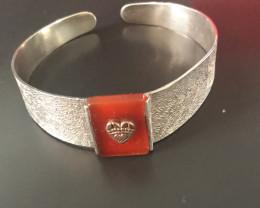 Silver& Garnet Bracelet
