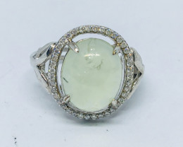 17.50 Crt Natural perlite 925 Silver Ring