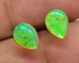 Japanese Composite Opal Silver Earstuds