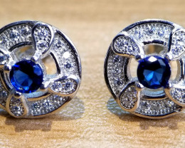 Man Made Dimond Cubic Zirconia Silver Perfect Earstuds