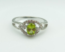PERIDOT NATURAL STONE WITH 925 SILVER RING H#10
