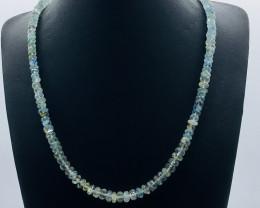 140 Crt Natural Aquamarine Necklace